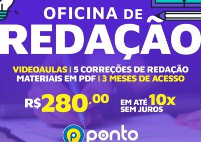 OFICINA DE REDAÇÃO I – EM 10X DE R$ 18,00  SEM JUROS – 3 MESES DE ACESSO
