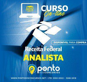 RECEITA FEDERAL – ANALISTA –  EM 10X DE R$ 35,00 SEM JUROS OU R$300,00 POR PIX