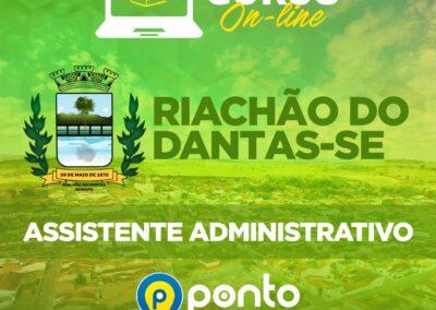 PREFEITURA DE RICHÃO DO DANTAS/SE – EM 10X DE R$ 29,90  SEM JUROS – ASSISTENTE ADMINISTRATIVO