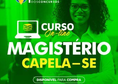 PREFEITURA DE CAPELA/SE – MAGISTÉRIO – EM 10X DE R$ 19,90  SEM JUROS – PROMOÇÃO